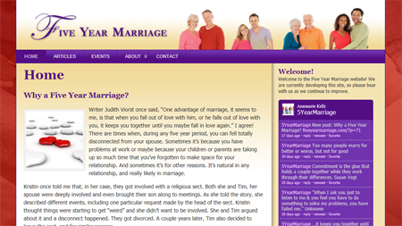 Visit the Five Year Marriage Website